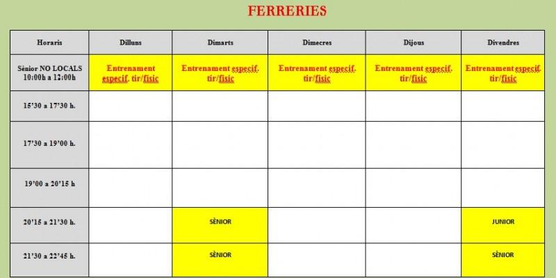 Horaris Ferreries -Rev 1-