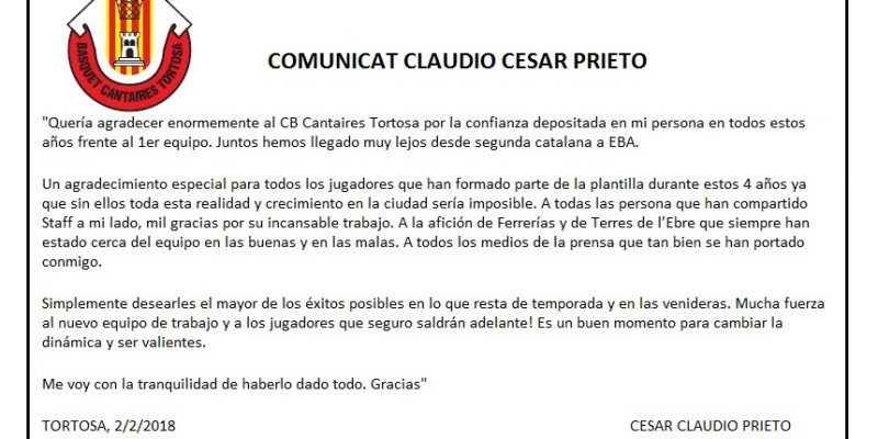 COMUNICAT CESAR CLAUDIO PRIETO